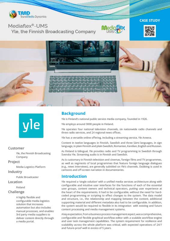 TMD TransMedia Dynamics Case Study: Yle