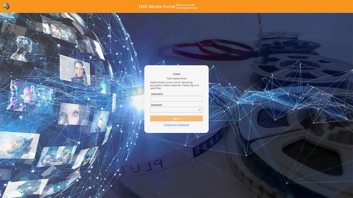 Mediaflex Media Portal login screen