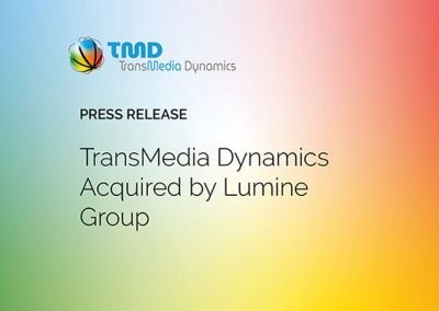 Press Release: TransMedia Dynamics Acquired by Lumine Group