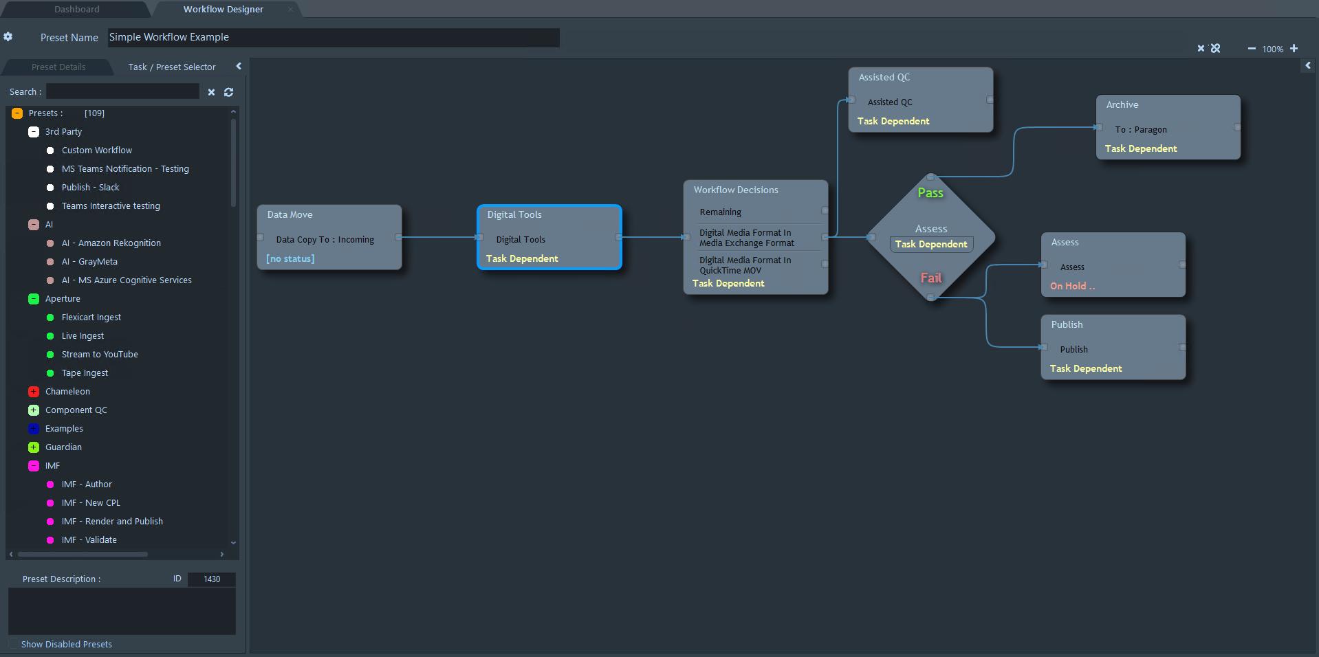 Mediaflex-UMS Workflow Designer